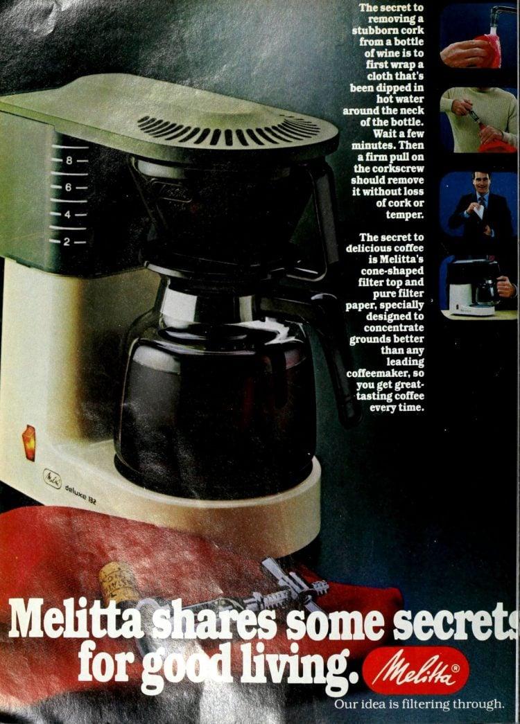 Melitta vintage automatic coffeemakers - Deluxe 132 (1980)