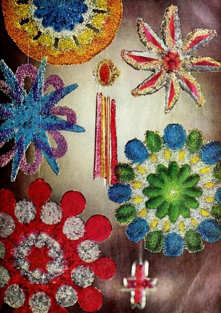 Melted bead suncatchers - Vintage craft project (2)