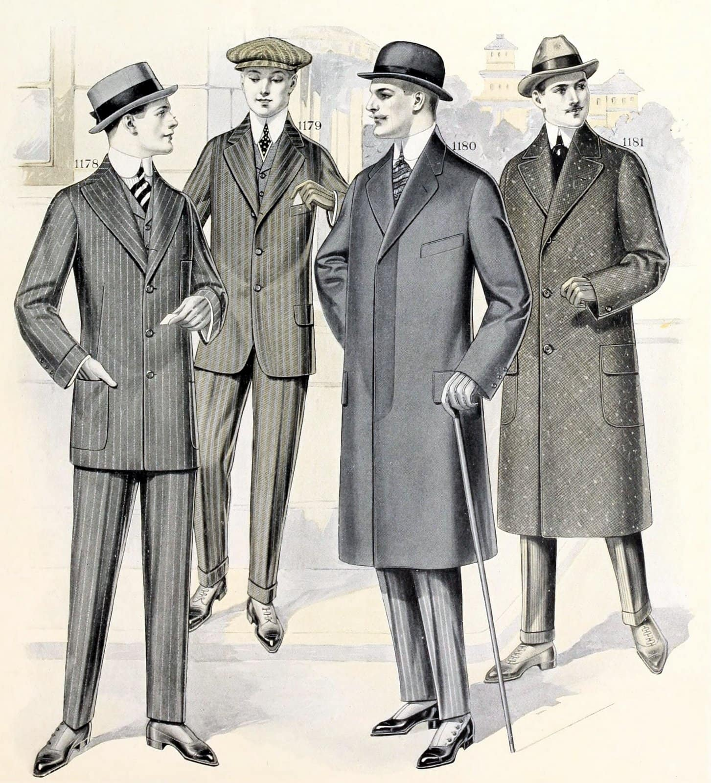 Men Clothes to flatter your body type (1916)