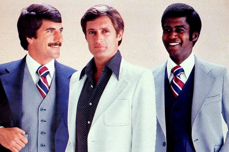 Men in 1970s suits
