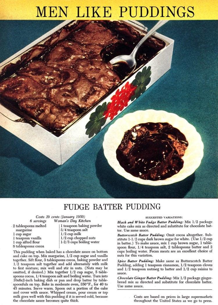 Men like puddings Fudge batter pudding recipe from 1950 (2)