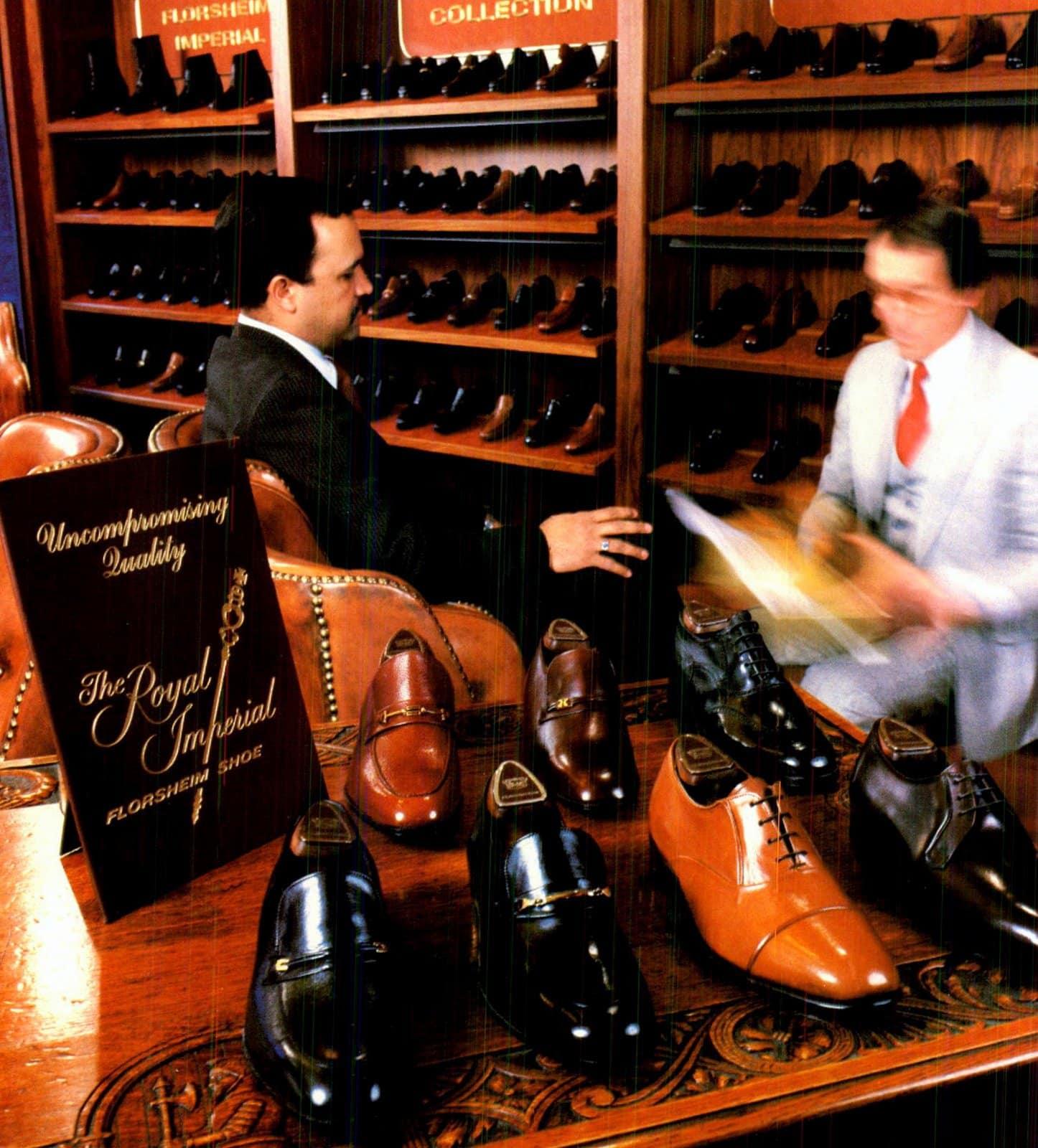 Men's shoe shopping in 1981