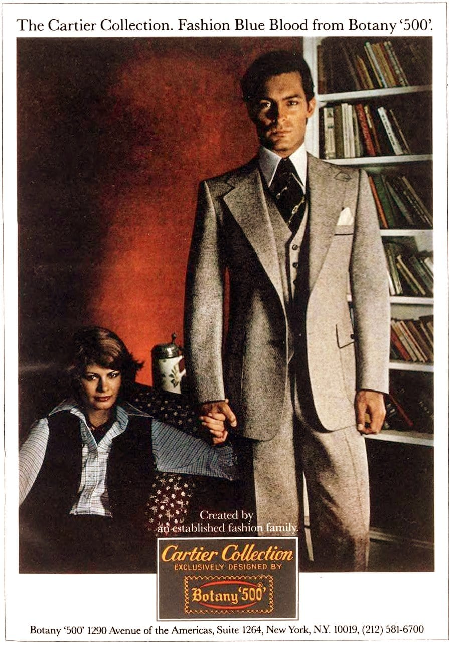 Menswear - Suits from the Cartier Collection - Botany 500 (1977)