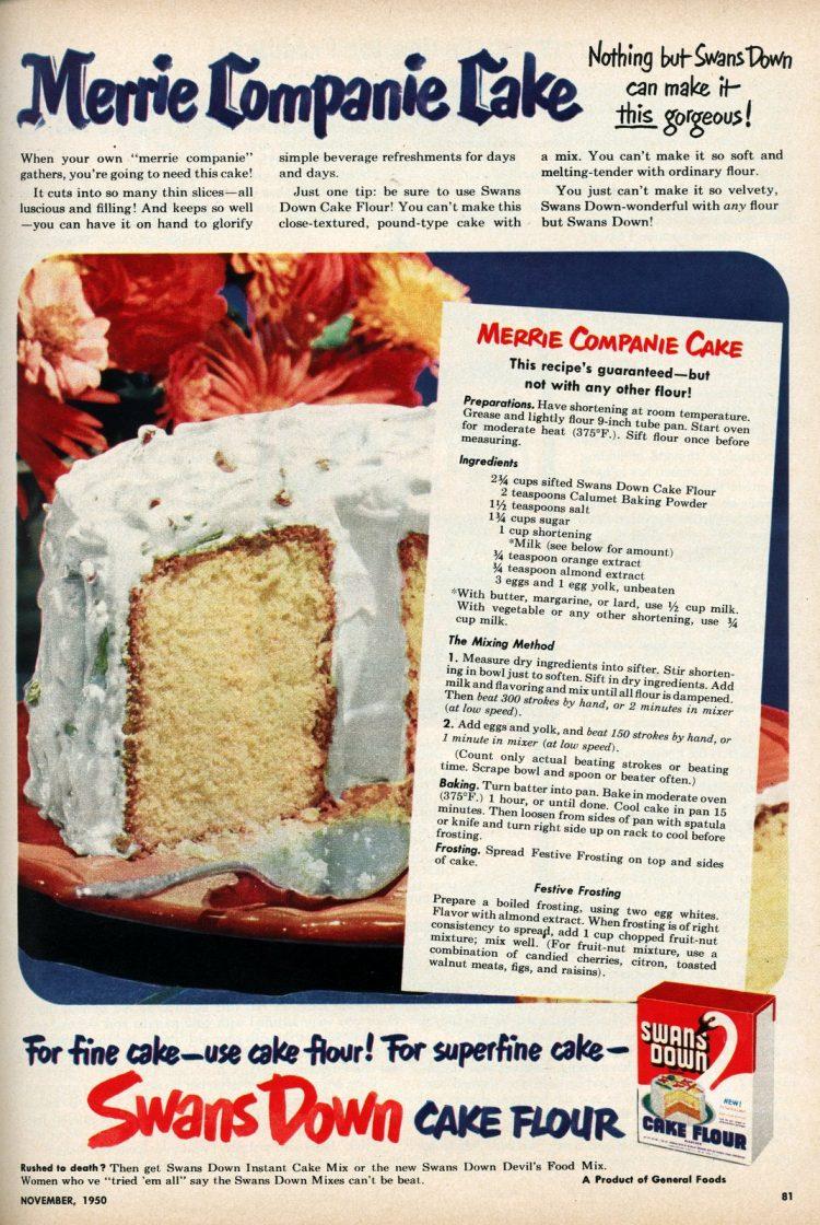 Merrie Company Cake 1950