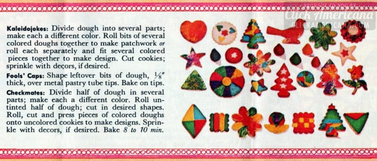 Merry Maker cookies - shapes and colors - 1962