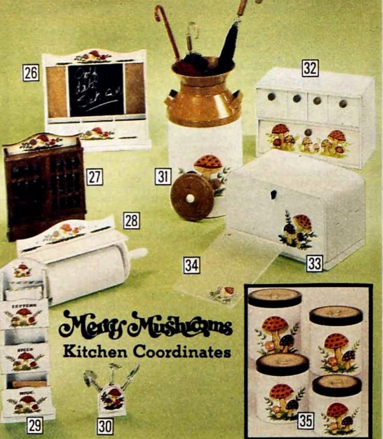 Merry Mushrooms kitchen coordinates from the seventies (2)