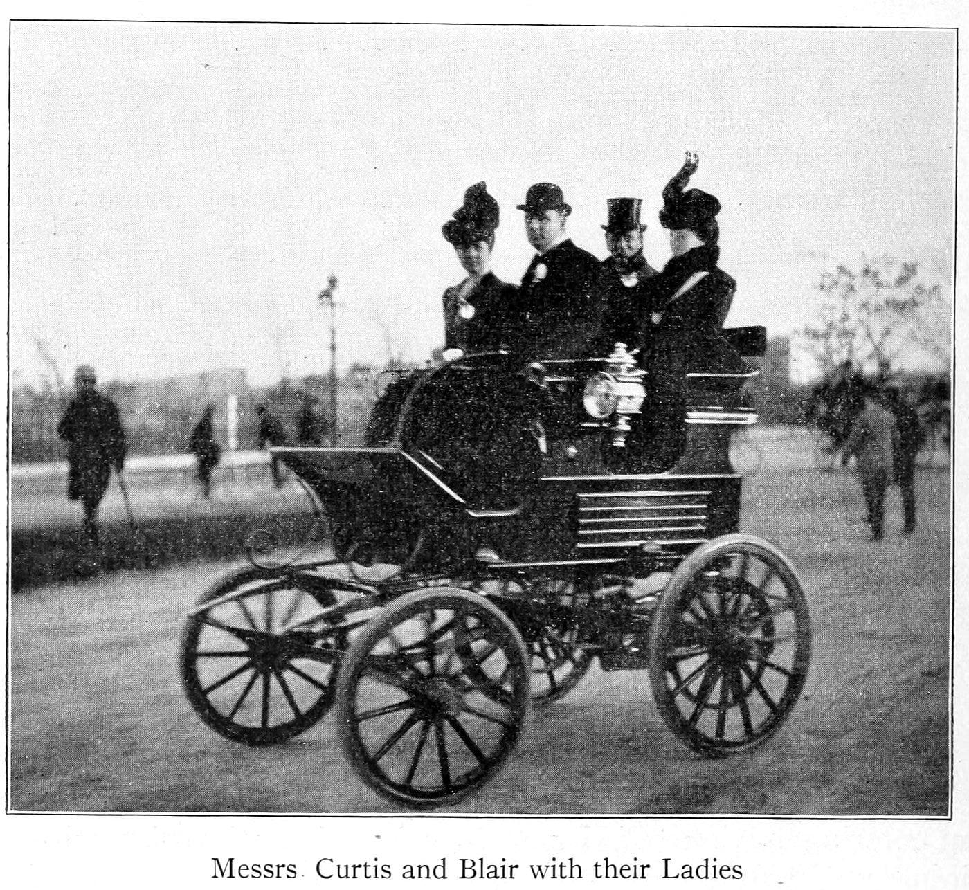 Messrs. Curtis and Blair with their ladies (1899)