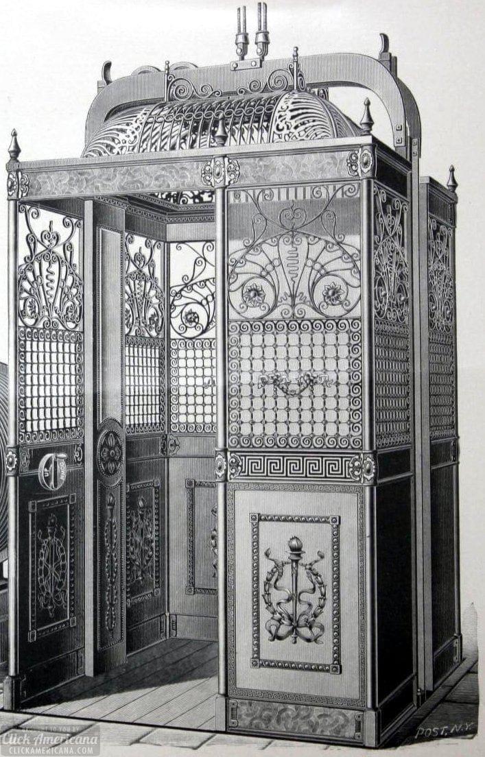 Victorian passenger elevator enclosures (1901)