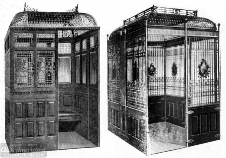 Victorian elevator enclosures (1901)
