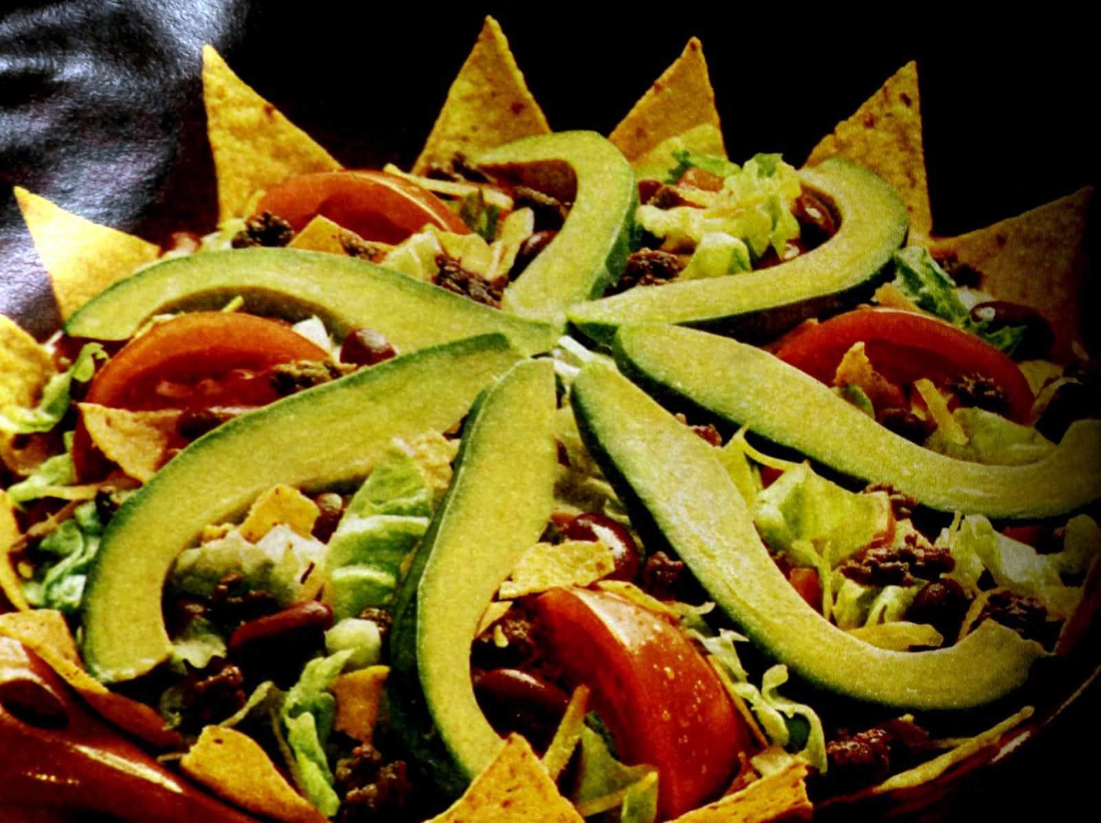 Mexican Chef's salad recipe 1969