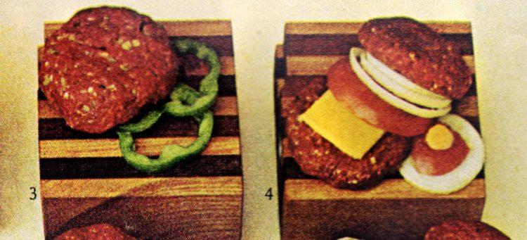 Mexican chili burger and American cheese stuffed hamburger