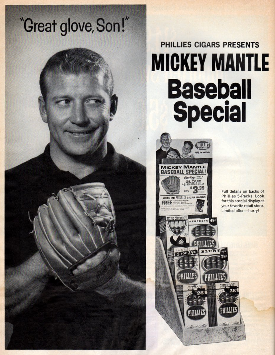Mickey Mantle father and son baseball glove offer from 1964 (1)