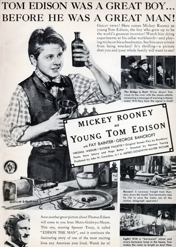 Mickey Rooney as Young Tom Edison movie