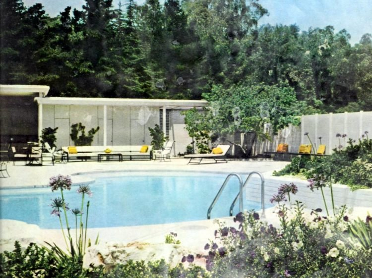 Mid-century home swimming pools from 1960 (4)