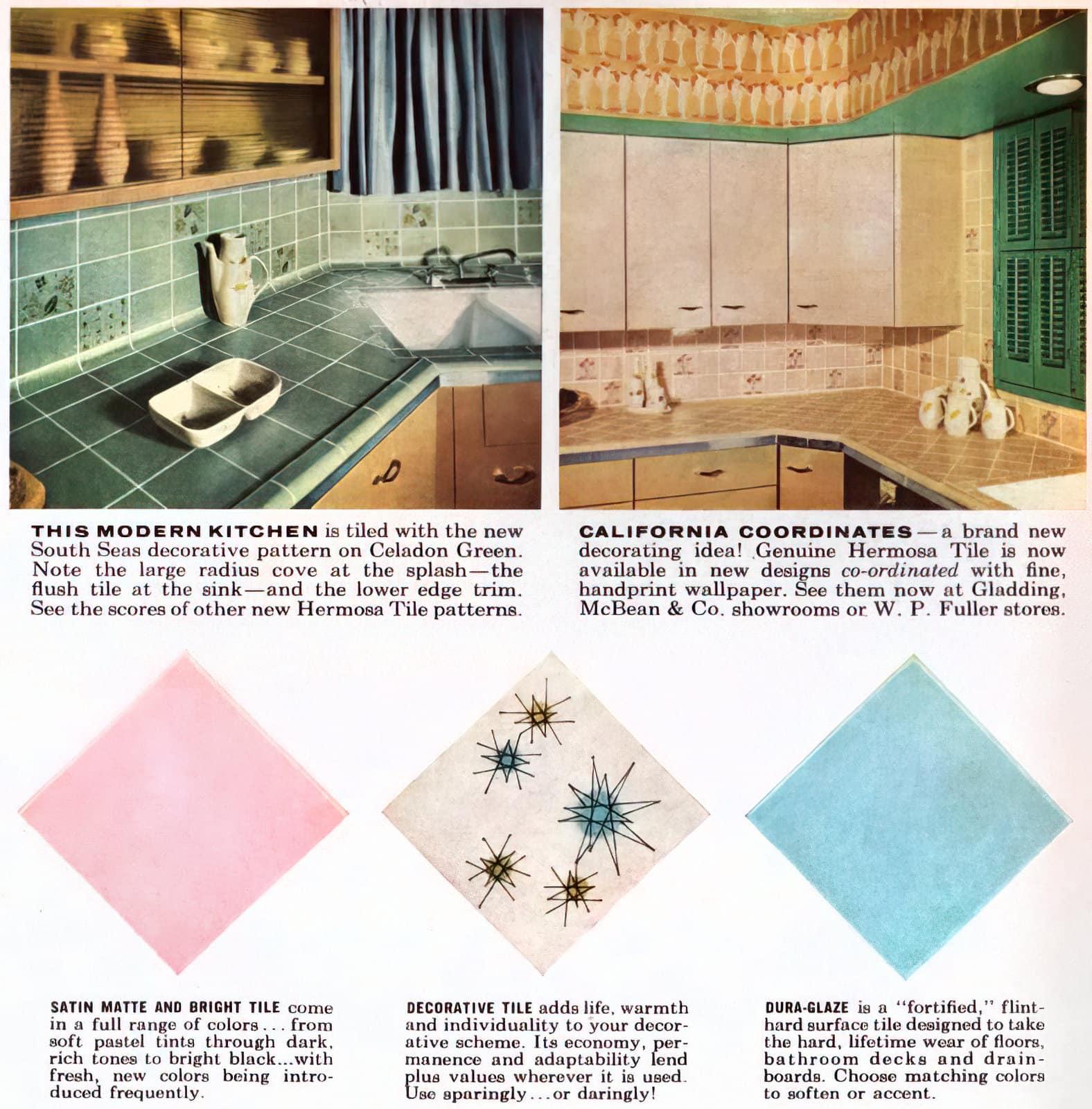 Mid-century kitchen tile - Hermosa (1950s)