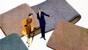 Mid-century modern carpet styles (1950s)