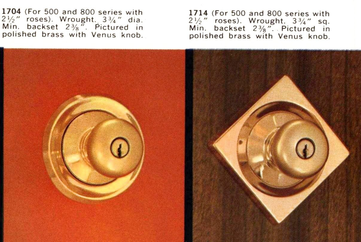 Mid-century modern doorknobs