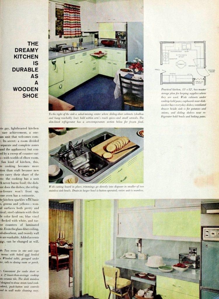 Vintage kitchen plan and design