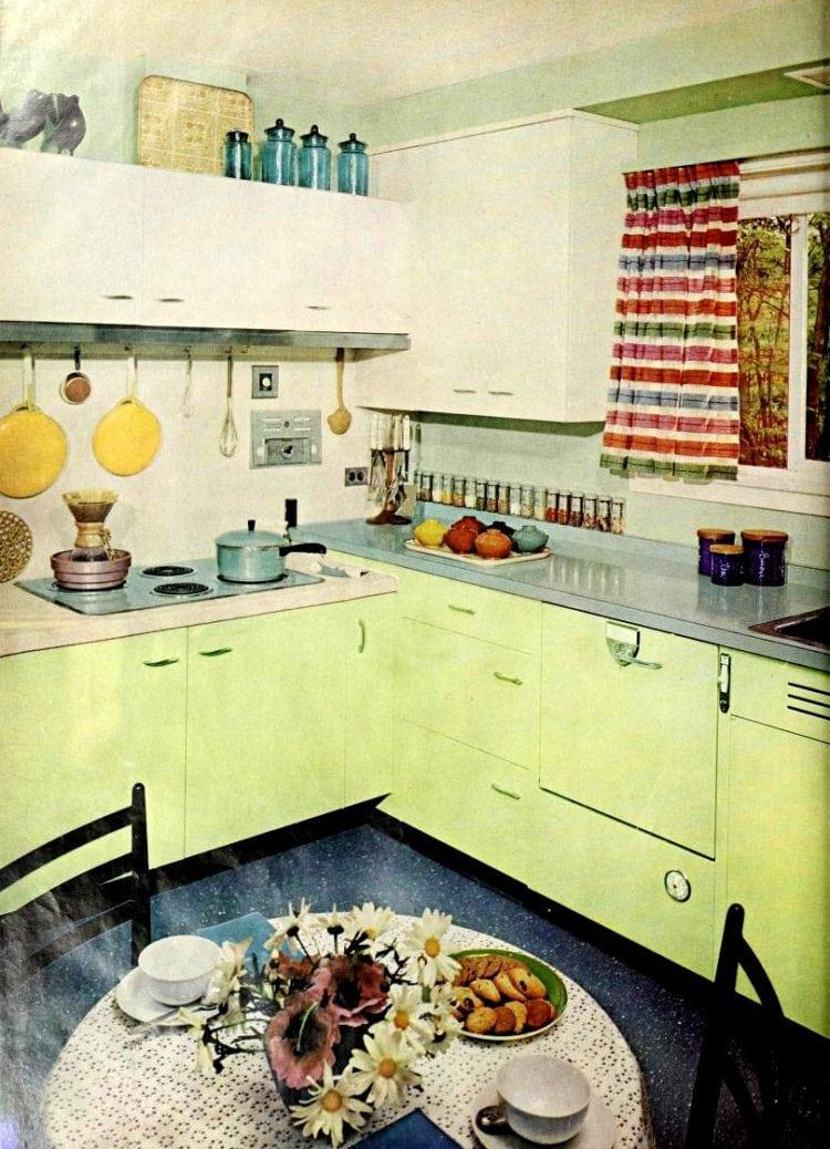 Retro green kitchen
