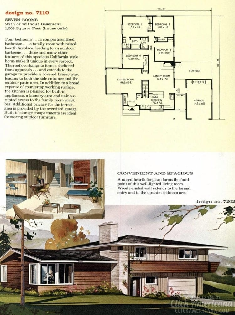 Mid-century modern home plans from 1961