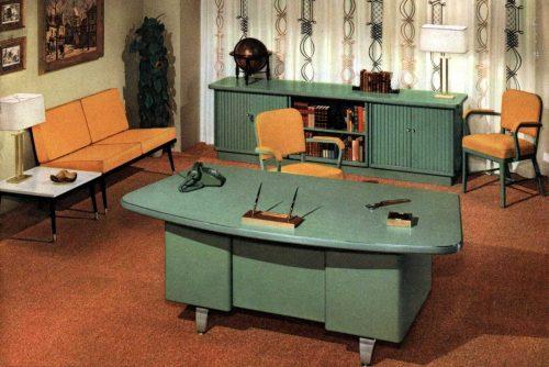 Mid-century modern retro office desks from 1959 - Click Americana (2)