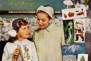 Mid-century retro Christmas cards from the 50s 60s