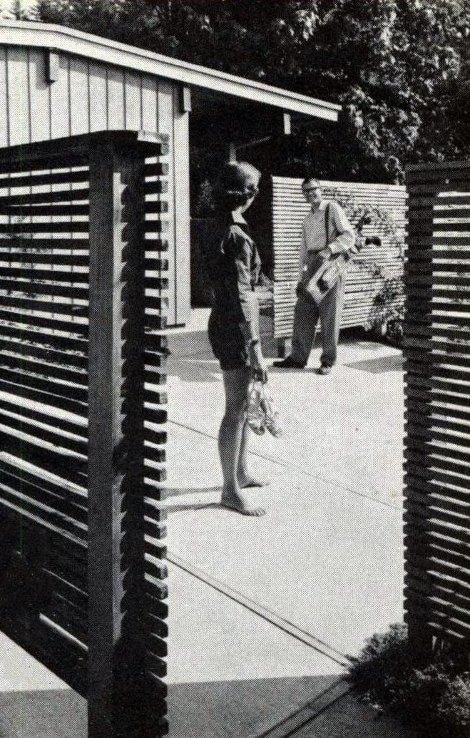 Mid-century retro wooden fence design from 1960