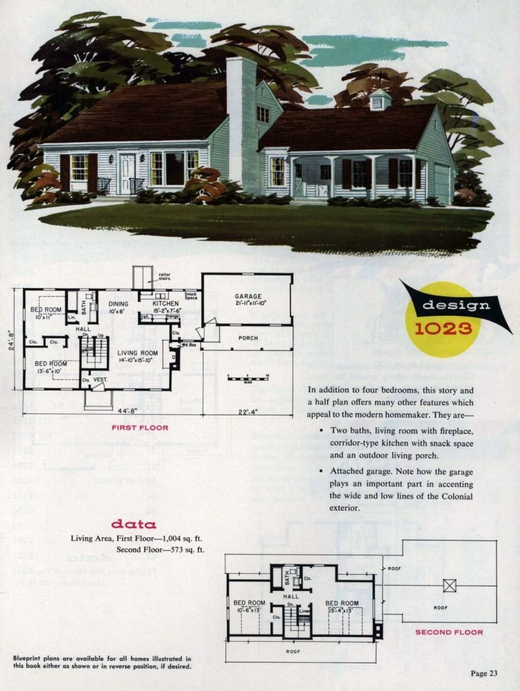 Midcentury home designs from National Plan Service - 1963 (1)