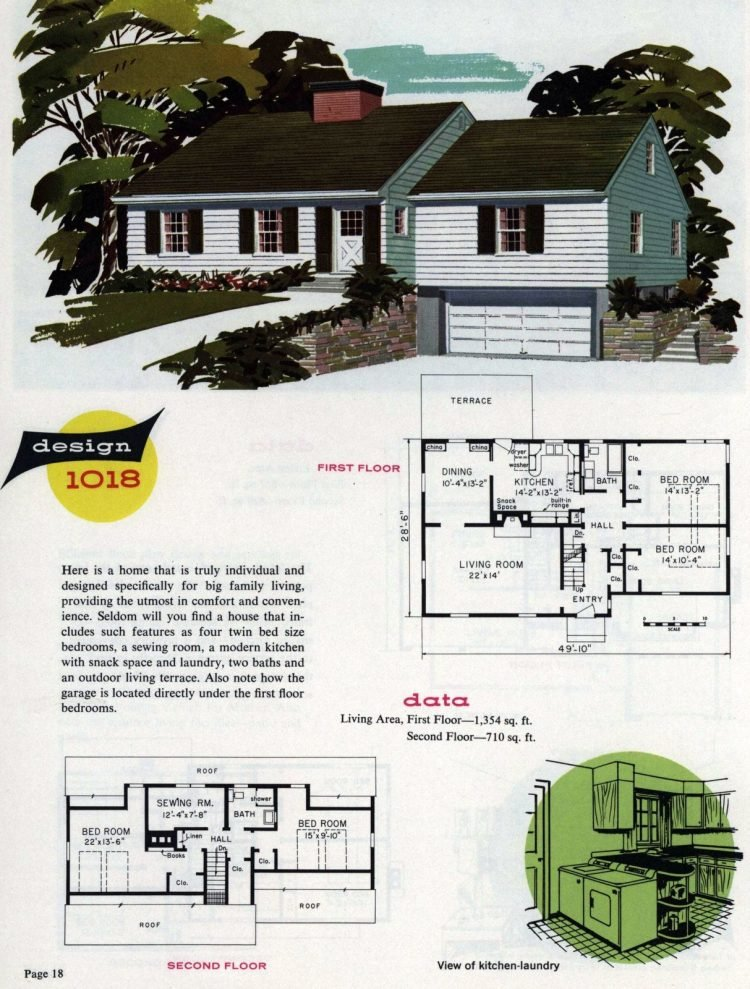 Midcentury home designs from National Plan Service - 1963 (10)