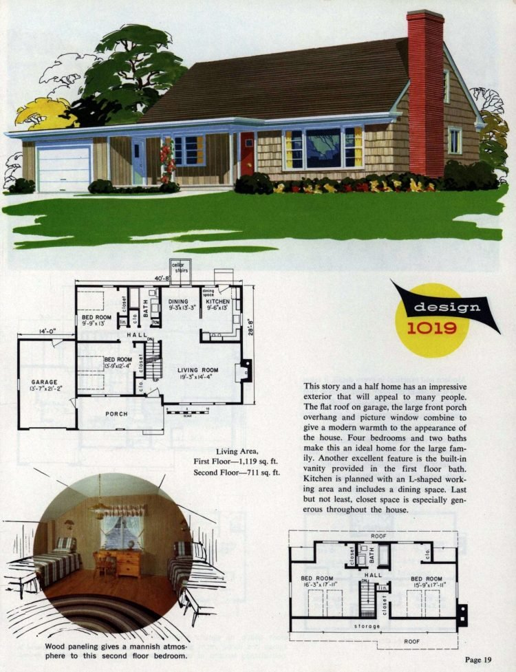 Midcentury home designs from National Plan Service - 1963 (11)