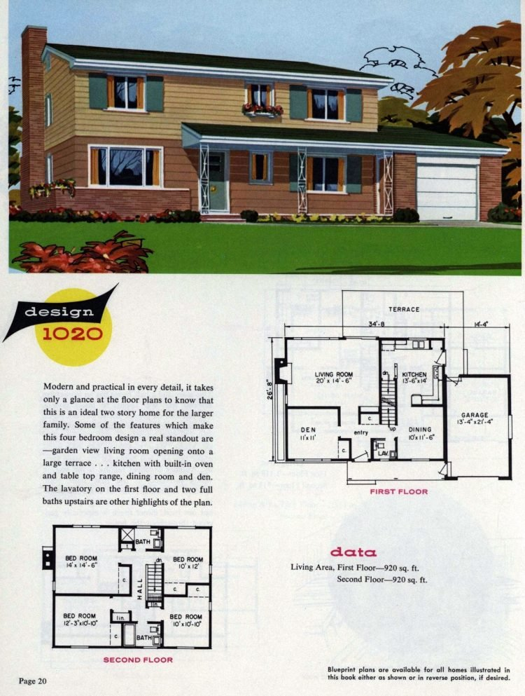 Midcentury home designs from National Plan Service - 1963 (12)