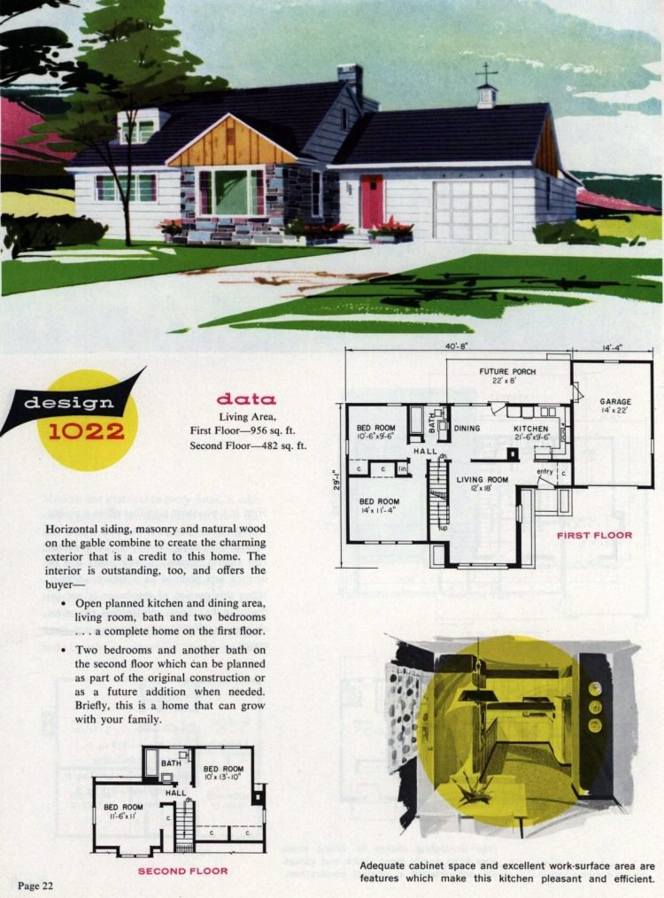 Midcentury home designs from National Plan Service - 1963 (14)