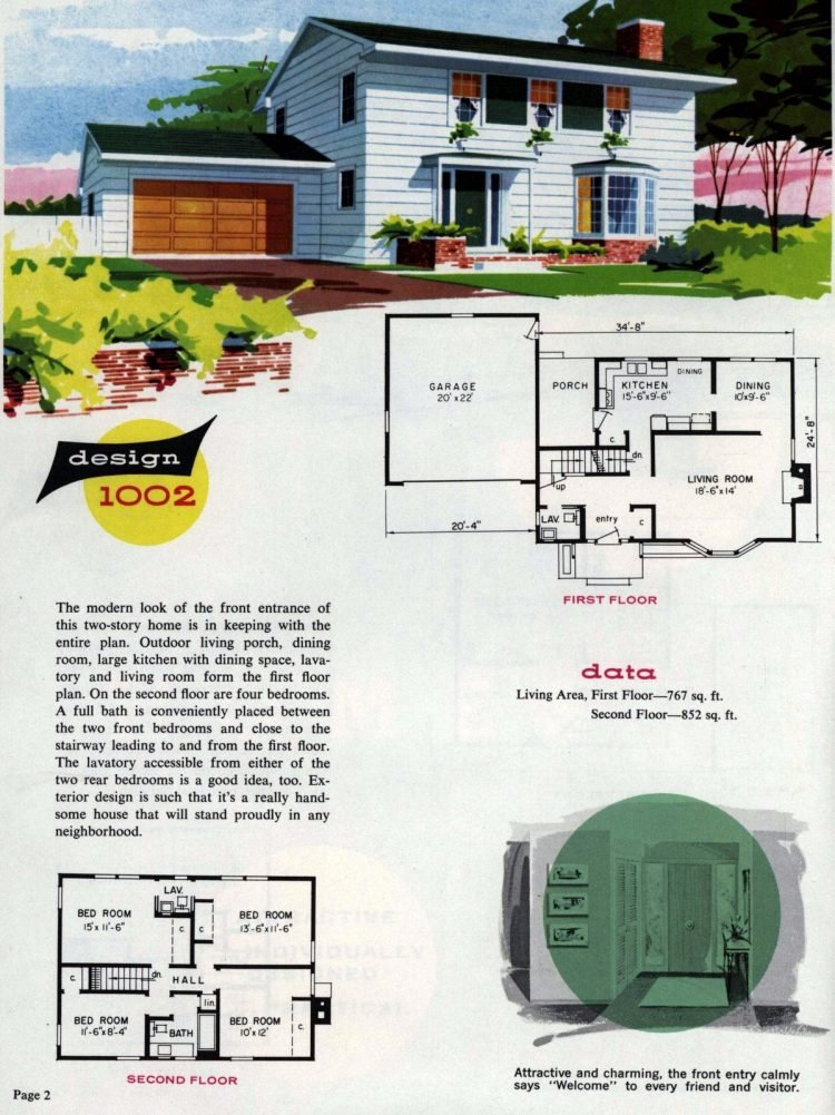 Midcentury home designs from National Plan Service - 1963 (2)