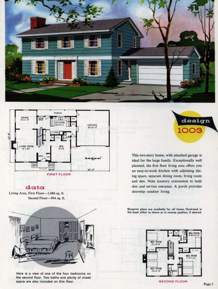 Midcentury home designs from National Plan Service - 1963 (3)
