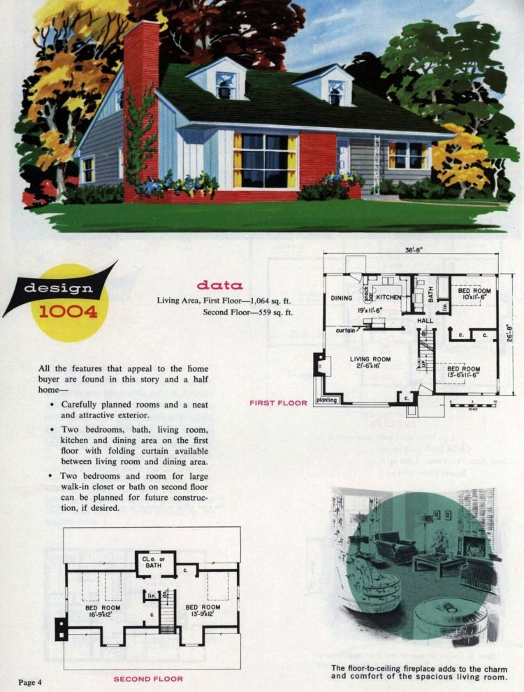 Midcentury home designs from National Plan Service - 1963 (4)
