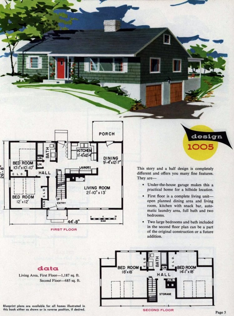 Midcentury home designs from National Plan Service - 1963 (5)