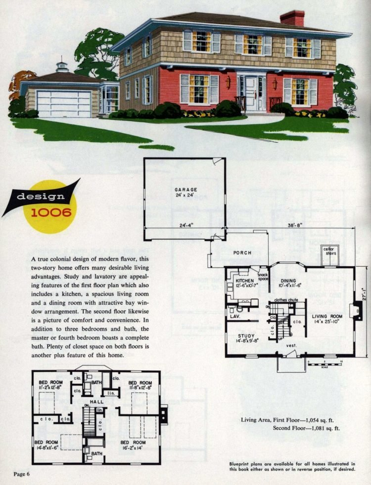 Midcentury home designs from National Plan Service - 1963 (6)