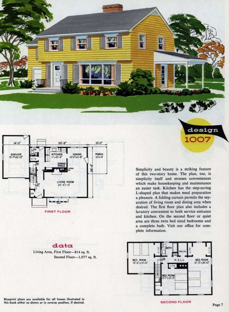 Midcentury home designs from National Plan Service - 1963 (7)