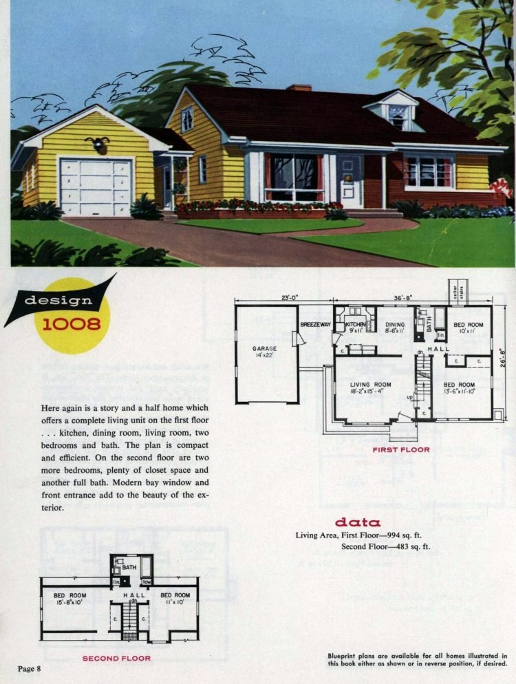 Midcentury home designs from National Plan Service - 1963 (8)
