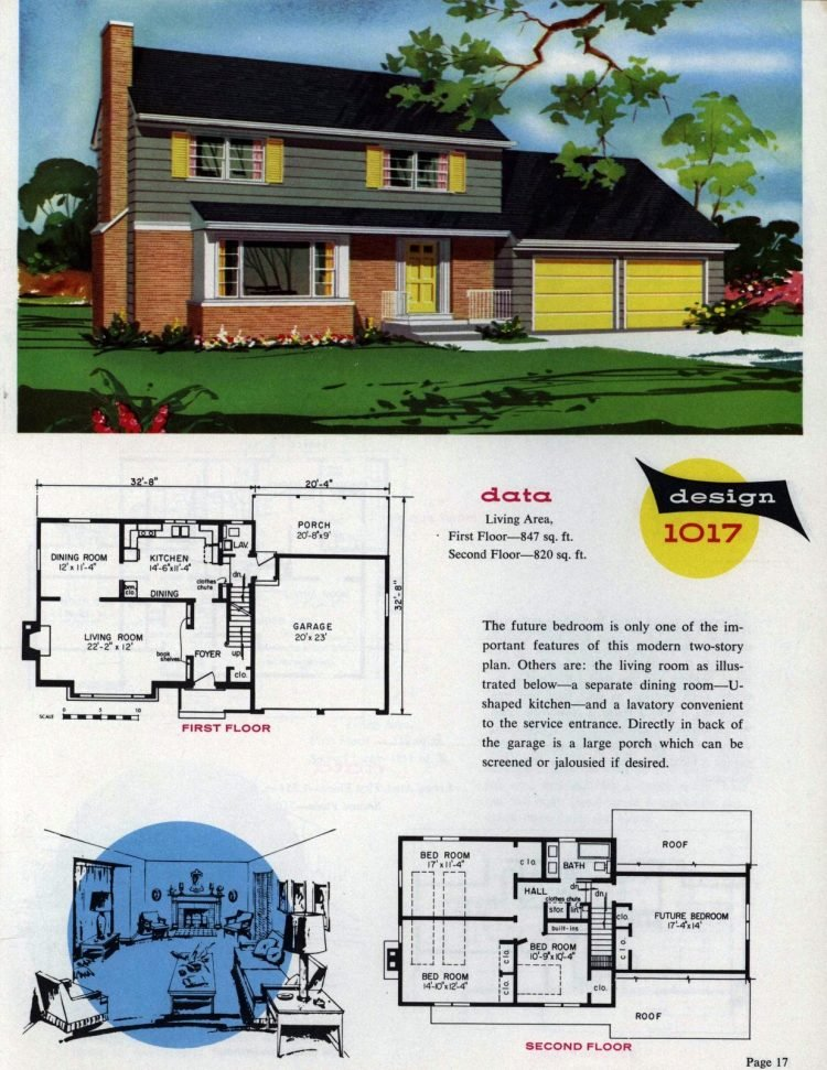 Midcentury home designs from National Plan Service - 1963 (9)
