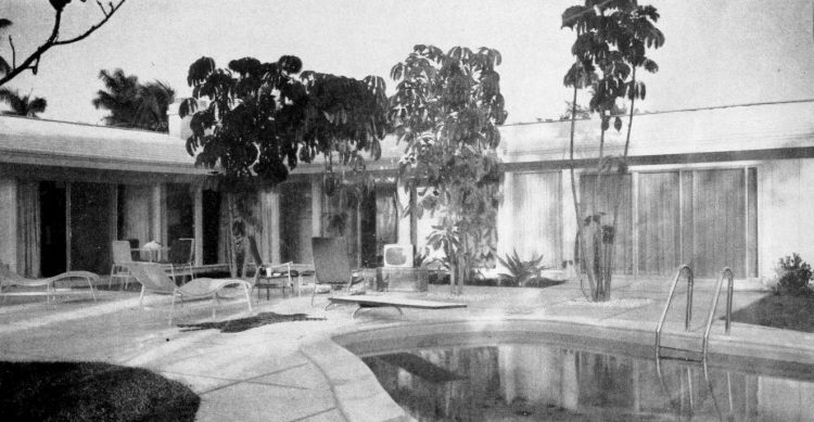 Midcentury modern swimming pool
