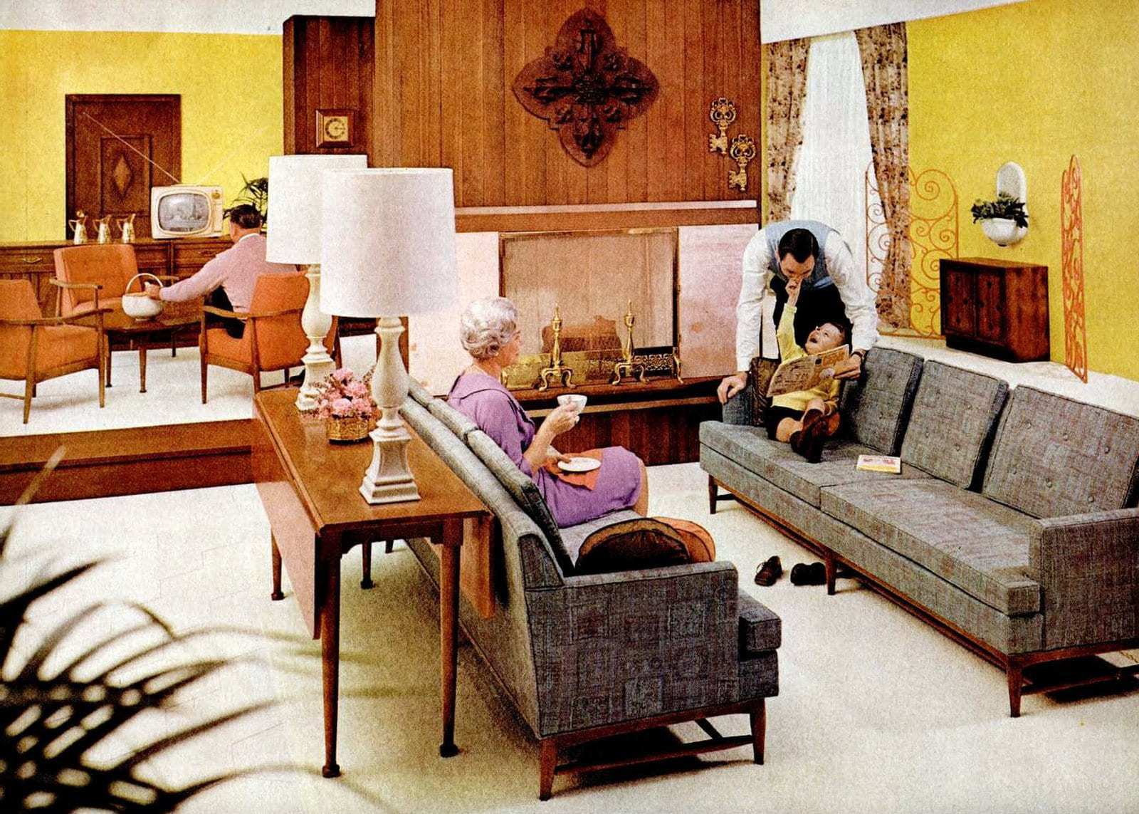 Midcentury modern style living room (1960)