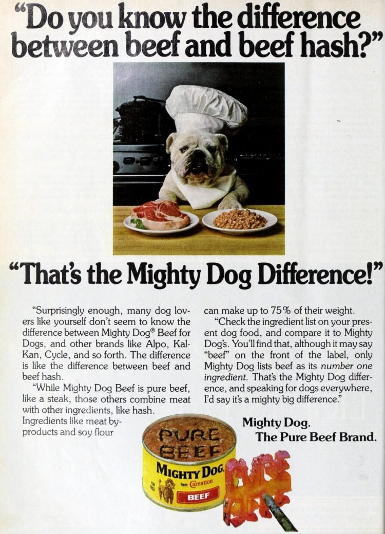 Mighty Dog dogfood - 1970s