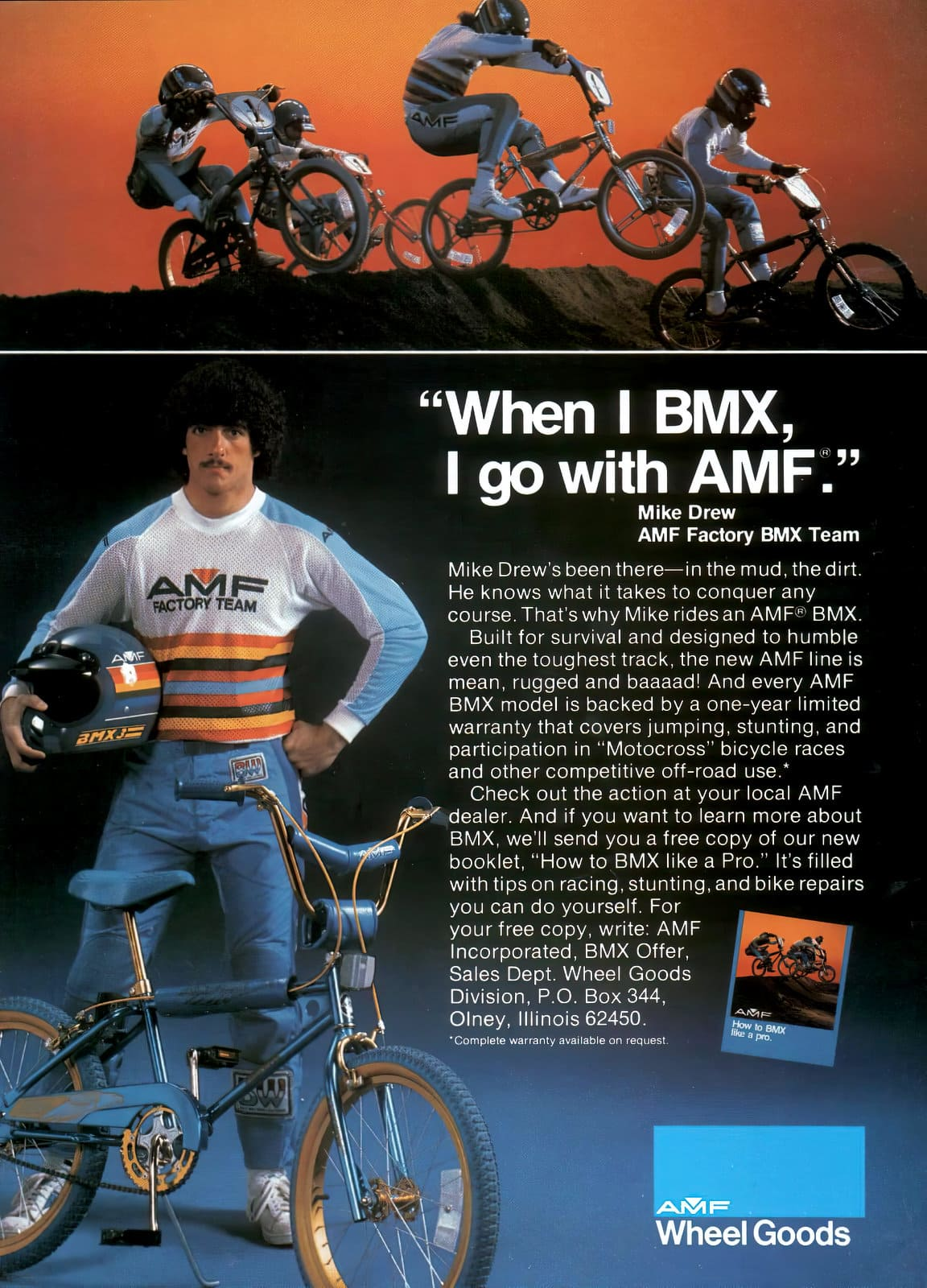 Mike Drew - BMX team - Bicycles from 1982
