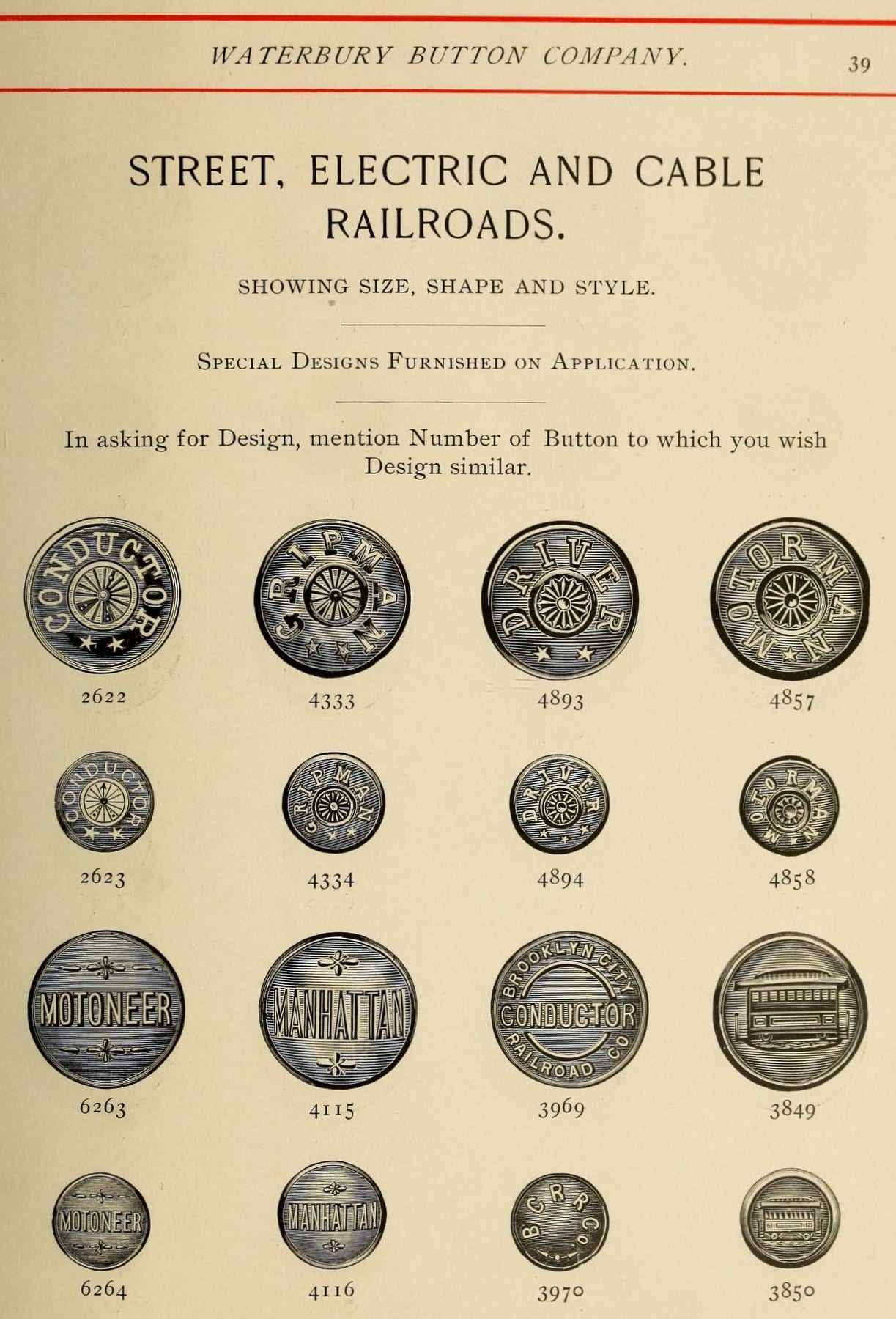 Military and all metal buttons from 1900