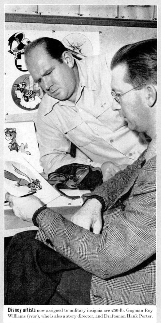 Military insignia Disney designed for WWII - Artists