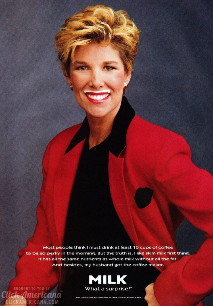 Milk - What a surprise - with Joan Lunden 1995