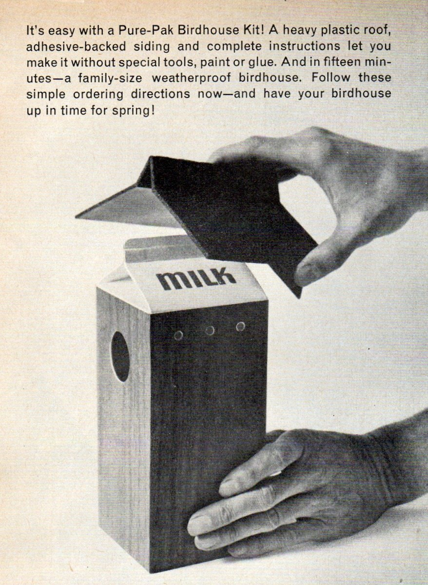 Milk carton bird house craft project instructions (2)