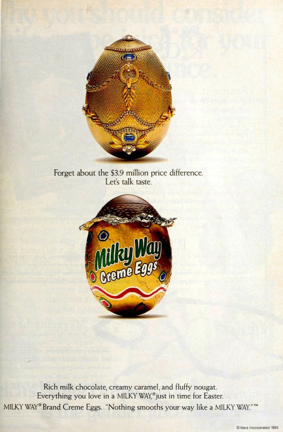 Milky Way Creme Eggs candy (1994)