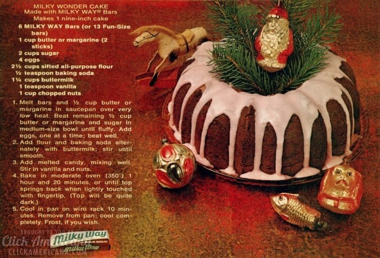 Milky Wonder Cake - A Bundt cake recipe from the 70s made with 9 Milky Way chocolate bars (2)